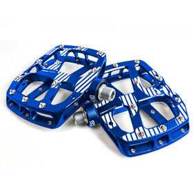 e*thirteen Plus Flat Pedals 22 Pins blue